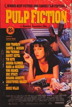Pulp Fiction 27x40 Movie Poster Movie Posters http://www.amazon.com/dp/B000VX8OF4/ref=cm_sw_r_pi_dp_JdkKtb053XN6F58Q