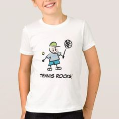 Shop Tennis clothes for kids Cartoon T Shirts, Tennis Clothes, Boys T Shirts, Kids Boys, Kids Outfits, Fitness Models, Casual, Fabric, Sleeves