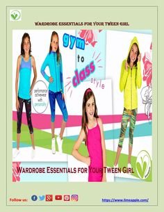 Wardrobe Essentials For Your Tween Girl Women, specifically teenage and pre-teen or tween girls, tend to alter their style as often as the season changes. This is the time when they are still figuring out their style, with new perspectives, new choices. However, there are a few classic staple items that every girl should have in her closet. One can always alter their basic clothing to fit their changing style.