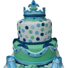 Cute cake for baby boy shower
