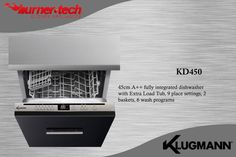 Dishwasher Built in A++ fully integrated dishwasher with Extra Load Tub 9 place settings, 2 baskets, 6 wash programs Built In Kitchen Appliances, Home Appliances, Fully Integrated Dishwasher, Place Settings, Egypt, Tub, Baskets, Germany, Building