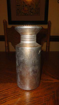 Vintage Aluminum Laundry Clothing Sprinkler Bottle Rare
