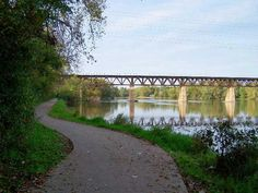 Fox River bike trail, not only close by but very scenic and a great workout.