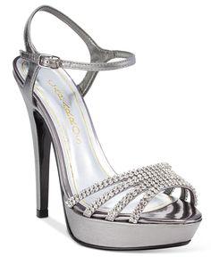 32b56160027 Caparros Belle Embellished Ankle-Strap Platform Evening Sandals Ankle Strap  Sandals