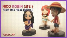 DIY Nico Robin Chibi from One Piece Polymer Clay Tutorial by CoCoCLAY 코코...