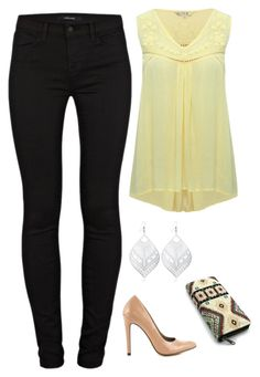 """""""Untitled #1218"""" by netteskytte on Polyvore featuring J Brand, M&Co and Michael Antonio"""