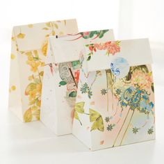 9 sets paper bag elegance flower design gift packaging birthday party candy holding