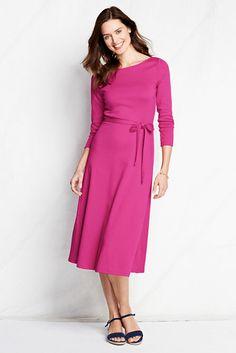 3/4-sleeve Sport Knit Dress (avail. in regular, petite, tall & plus sizes)