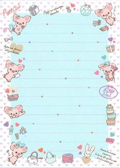 pink Piggy Girl glitter Memo Pad with pig & perfume 3 Planner Sheets, Planner Pages, Planner Stickers, Cute Backgrounds, Cute Wallpapers, Cute Stationary, Cute Notes, Letter Set, Scrapbook Journal