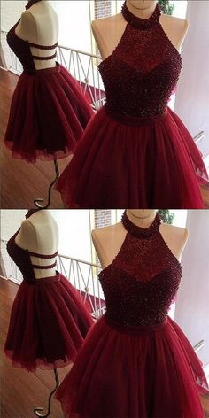 Burgundy Homecoming Dress, Cute Party Dresses, Short Homecoming Dress, Party Dresses For Teens, Cheap Party Dresses Short Homecoming Dresses Source by criseliziane Backless Homecoming Dresses, Burgundy Homecoming Dresses, Burgundy Dress, Quince Dresses Burgundy, Prom Gowns, Ball Gowns, Evening Dresses, Cute Dresses For Party, Sweet 16 Dresses