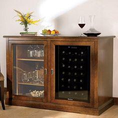 Siena Mezzo Wine Credenza (Walnut) with Wine Refrigerator