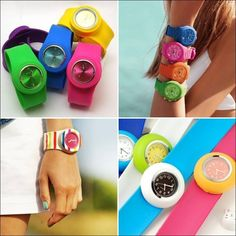 Mix and Match these Silicone Watches with your Dresses!