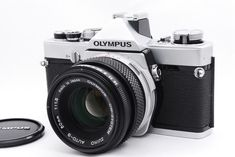 Bright! *Near Mint* Olympus OM-1 SILVER Body W/ Zuiko AUTO-S 50mm f/1.8 From Jpn #Olympus