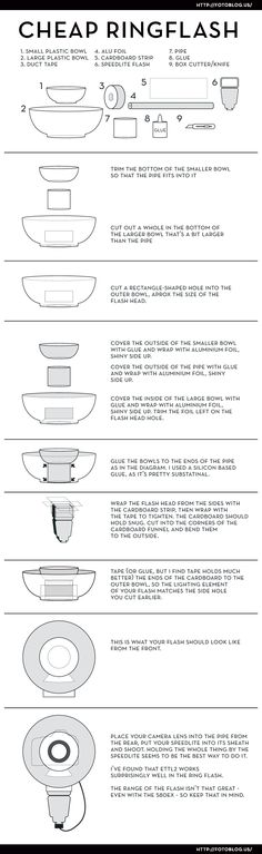 How to build a cheap ringflash from fotoblog.us