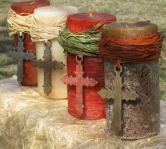 We really love these Eternal Flame Cross Ornaments which are our very own original design and meticulously hand painte. Baptism Party Favors, Christian Christmas, Wood Crosses, Hand Painted Ornaments, Decorating Your Home, Candle Holders, Christmas Ornaments, Christmas Ideas, Candle Decorations