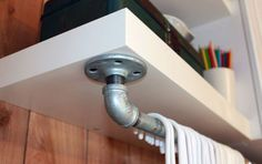 Groovy Garage Storage - plumbing pipe and fixtures for hanger rod