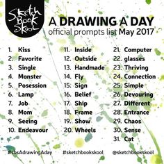 (What) will you be drawing in May?