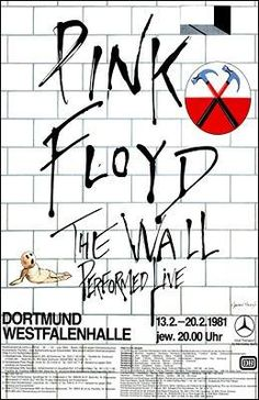 Sick Pink Floyd Poster for The Wall! Tour Posters, Band Posters, Music Posters, Vintage Concert Posters, Vintage Posters, Concert Rock, El Rock And Roll, Pochette Album, Music Artwork