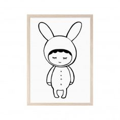 Mini Learners Shy Bunny Poster - A3