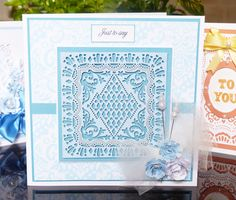 'Square' - 3 in 1 Tattered Lace Die. Visit tatteredlace.co.uk for available stockists.