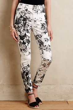 7 For All Mankind X-Ray Floral Jeans - anthropologie.com #anthroregistry