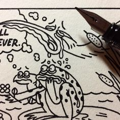 Things may be getting a bit heavy at the pond tomorrow.  #illustration #nathandouglasyoder