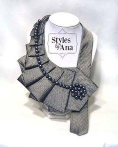 NUOVO Argent  cravatta dichiarazione collana con di stylesbyana