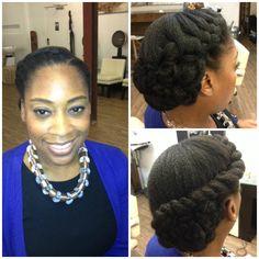 Natural Updo #naturalhair #weddingstyle #hair