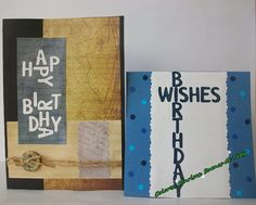 Set of 2 Happy Birthday card for men Men Only Card Birthday