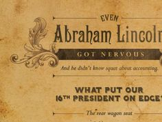 Abraham Lincoln by Ben Requena.