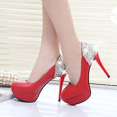 Women's Shoes Fashion Stiletto Heel Round Toe Platform Heels Party & Evening / Dress Black / Red / White 4736221 2017 – $40.03