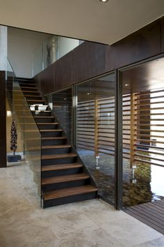 House Serengeti | Staircase | M Square Lifestyle Design #Design #Interior #Timber #Contemporary