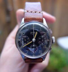 9eb7403003b Benrus Sky Chief Vintage Aviator Chronograph Wristwatch