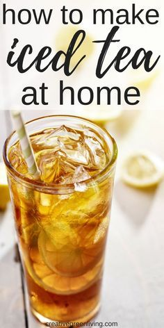 How to Make Iced Tea Making unsweetened iced tea at home is easy! Learn how to make iced tea from scratch without a mix, coffee maker or other fancy equipment Iced Tea Maker, Coffee Maker, Iced Tea Mix, Yummy Drinks, Healthy Drinks, Refreshing Drinks, Home Made Ice Tea, Making Iced Tea, Iced Tea Recipes