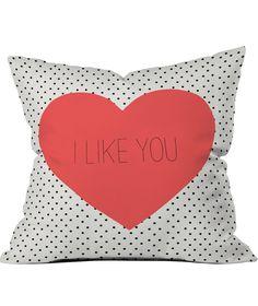 I Like Polka Dots Throw Pillow