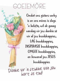 Good Morning Wishes, Good Morning Quotes, Afrikaans Language, Lekker Dag, Goeie Nag, Goeie More, Granny Square Crochet Pattern, Om, Cartoon