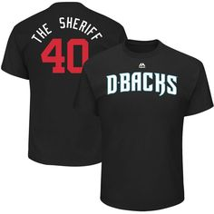"Andrew Chafin ""The Sheriff"" Arizona Diamondbacks Majestic 2017 Players Weekend Name & Number T-Shirt - Black"