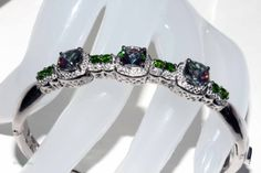 Genuine Russian diopside and northern lights by RetroRecyclables, $180.00