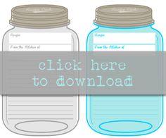 Free Printable Mason Jar Recipe Cards /// Prints 2 per page /// Instant… Mason Jar Meals, Mason Jar Gifts, Meals In A Jar, Mason Jar Diy, Wedding Planner Binder, Mason Jar Projects, Recipe Scrapbook, Printable Recipe Cards, Jar Crafts