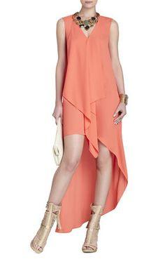 Tara High-Low Maxi Dress | BCBG