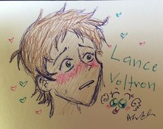 Art blog for Alana / Miss Kitty - Today's voltron Lance drawings 🖊✏️scribbles...