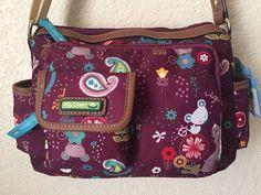 LILY BLOOM Cat & Mouse Libby Hobo Women Bag / Handbag Multi-color. #LilyBloom #Hobo