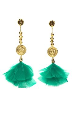 Cites D'Or Feather Earrings (by Aurélie Bidermann)