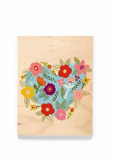 Celebrate Love with this Flowered Heart greeting card to say it your way!