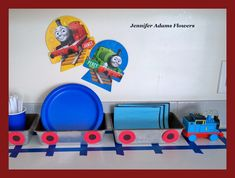 I'm excited to finally be sharing my Bubby's Thomas the Train party decor! We had a wonderful family party celebrating his 4th b...