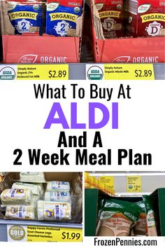 The Ultimate Savings At Aldi; Favorites, Hacks, And Tips - Frozen Pennies - Two week meal plan and grocery list for Aldi. Feed your family for two weeks and budget less than - Frugal Living Tips, Frugal Tips, Frugal Meals, Cheap Meals, Budget Meals, Food Budget, Budget Cooking, Inexpensive Meals, Budget Recipes