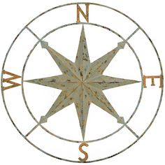 Found it at Wayfair - Compass Points Wall Décor