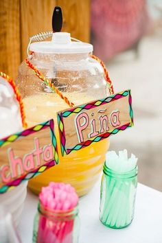 Mexican inspired wedding drink