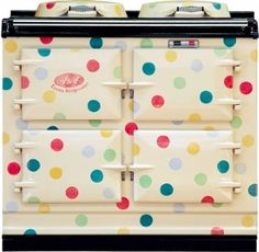 It is a match made in design heaven – Emma Bridgewater Polka Dot AGA Cooker. Emma Bridgewater has made a name for herself with cute retro designs and you Aga Oven, Aga Cooker, Emma Bridgewater Pottery, Weird And Wonderful, Ideal Home, Vintage Kitchen, Vintage Stove, Retro Stove, Whimsical Kitchen