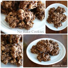 Favorite No Bake Cookies Favorite No Bake Cookies @ Blissful Roots I will be making these tomorrow. My Recipes, Sweet Recipes, Baking Recipes, Cookie Recipes, Dessert Recipes, Favorite Recipes, Just Desserts, Delicious Desserts, Yummy Food